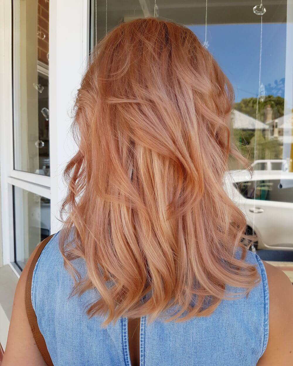 Rose gold hair - Kinks hairdressers Fremantle