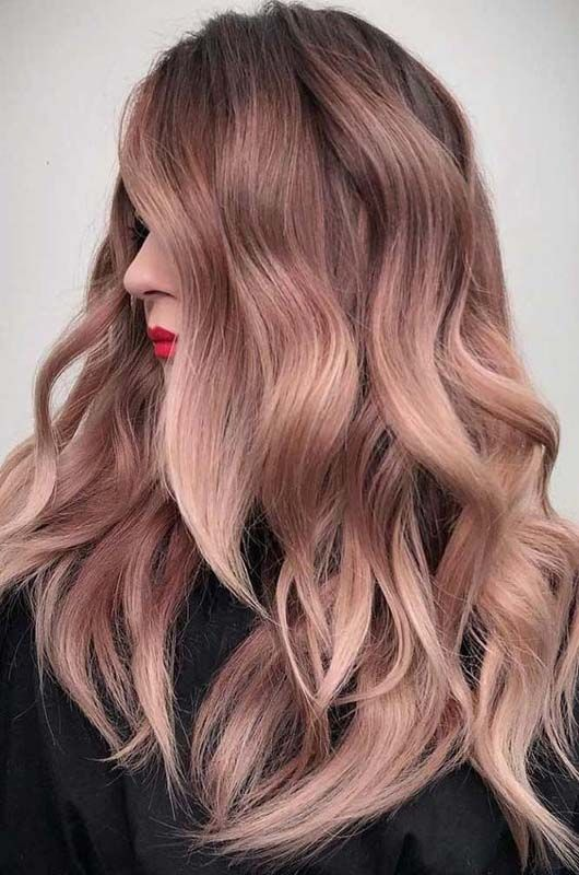 Rose gold hair - Kinks Salon