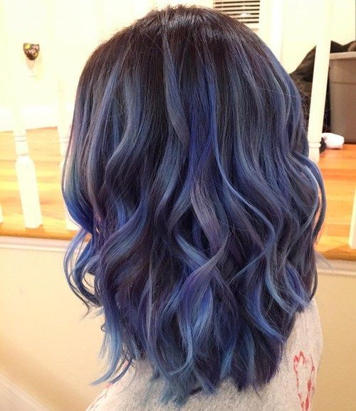 Smokey Blues and Aubergine - Winter Hair Colours