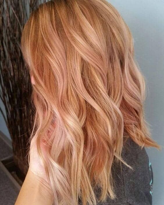 Strawberry Blonde - Winter Hair Colours