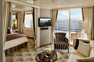 Crystal Serenity - Penthouse Suite with Verandah