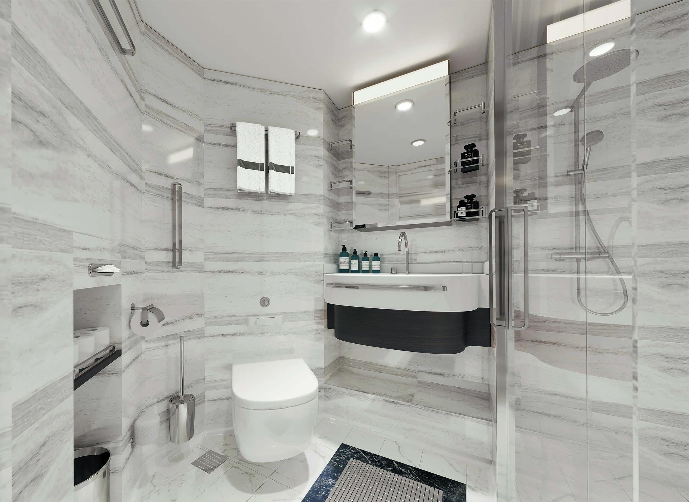 Seven Seas Splendor - Badezimmer Deluxe Suite