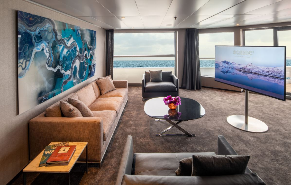Scenic Eclipse - Owners Penthouse Suite Wohnbereich