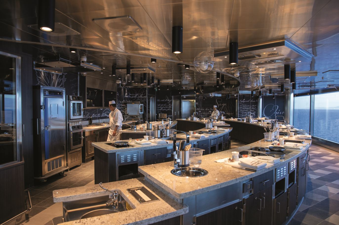 Seven Seas Splendor  - Culinary Arts Kitchen - Eventküche