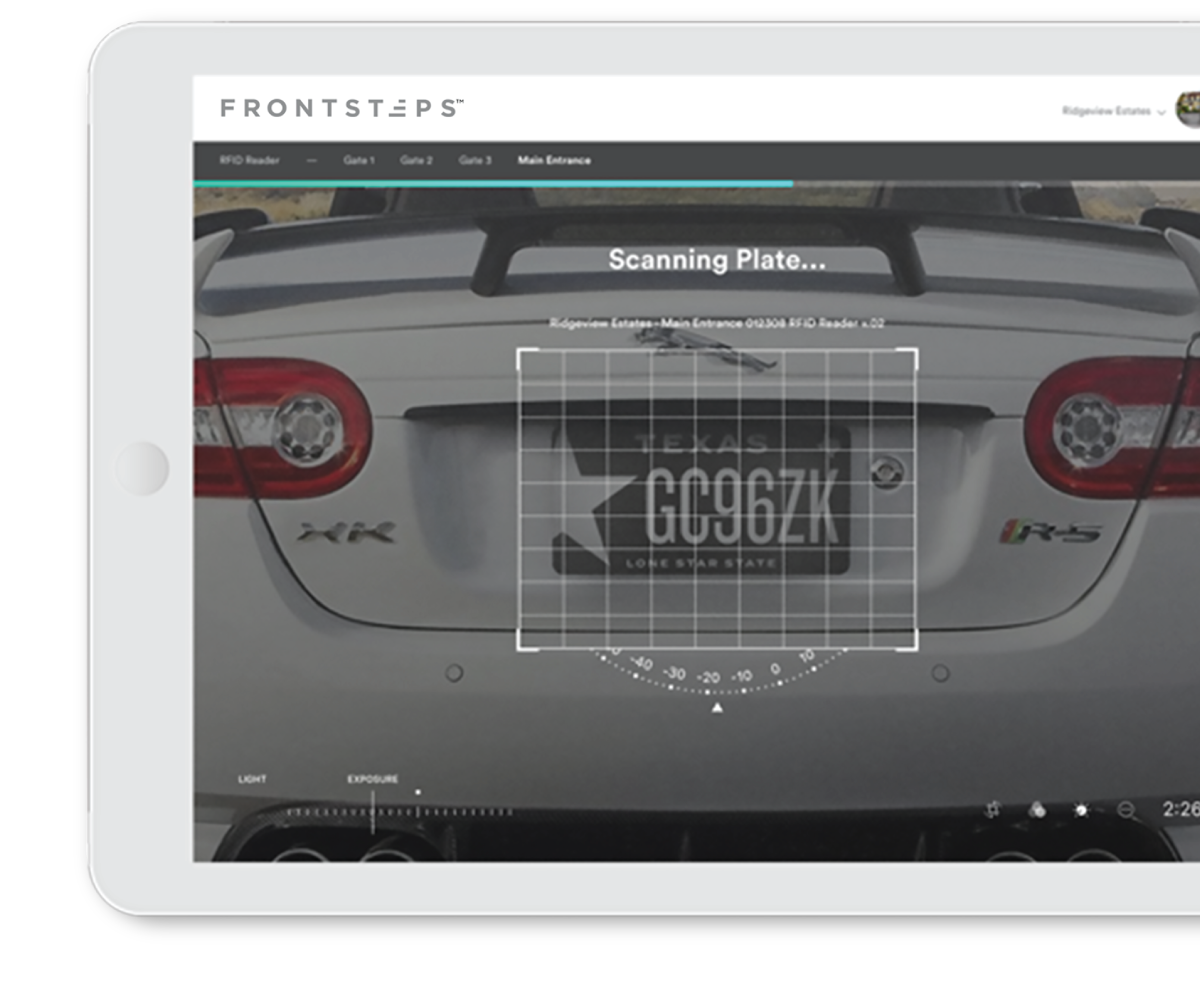 License Plate Recognition Software on Tablet Interface