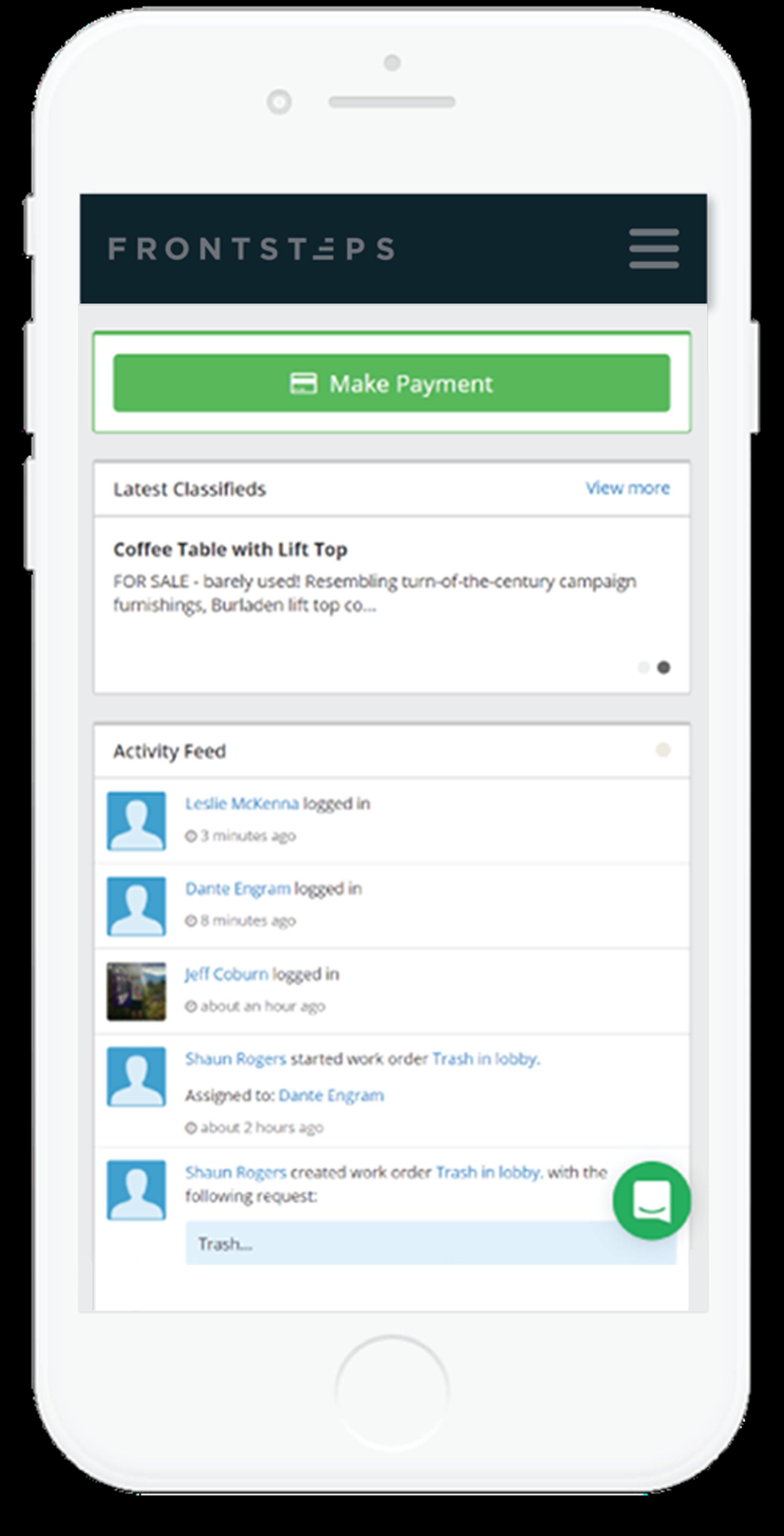 Mobile Bulletin Board Interface