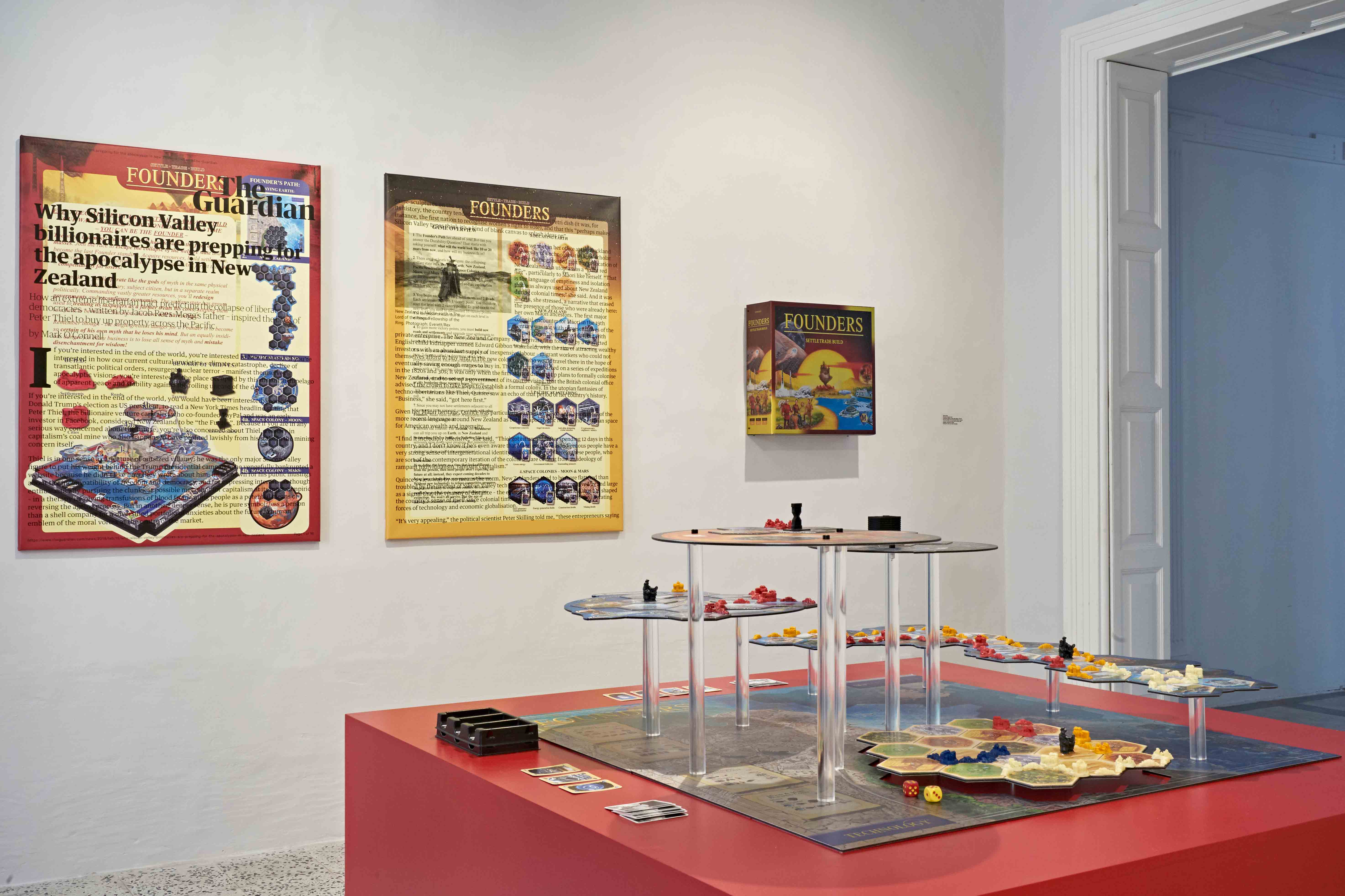 Simon Denny Founders.0 (study), 2019 Installation views, Courtesy the artist and Galerie Buchhloz Photo Alexandra Pace, Face with Tear of Joy (April - June 2019), courtesy Blitz Valletta