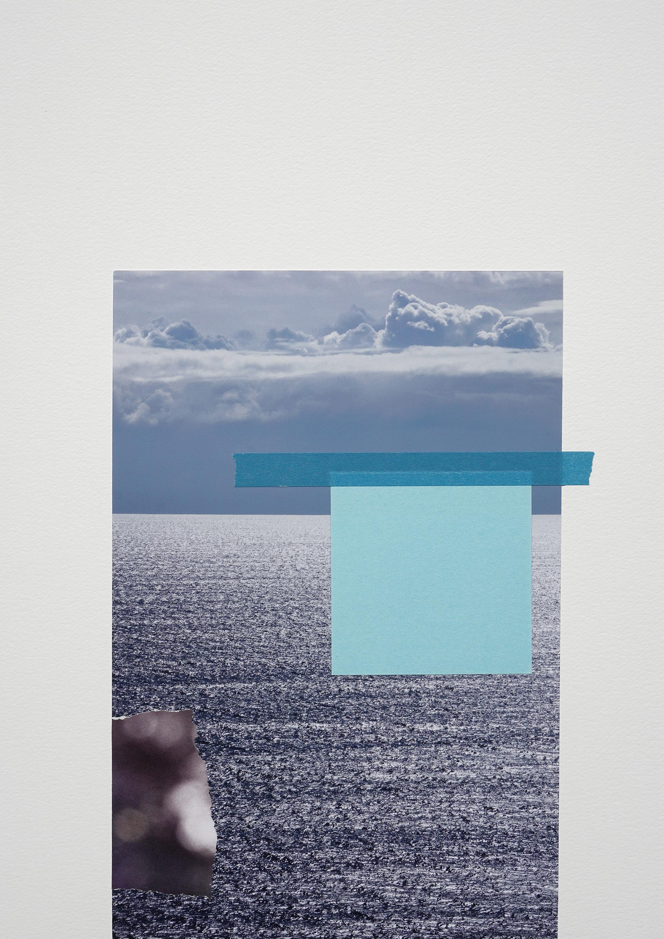 Jessica Backhaus New Horizon, 2017 Mixed-Media-Collage 42 x 30 cm, © Jessica Backhaus, VG Bild-Kunst, Bonn 2020, courtesy of the artist and Robert Morat Galerie, Berlin