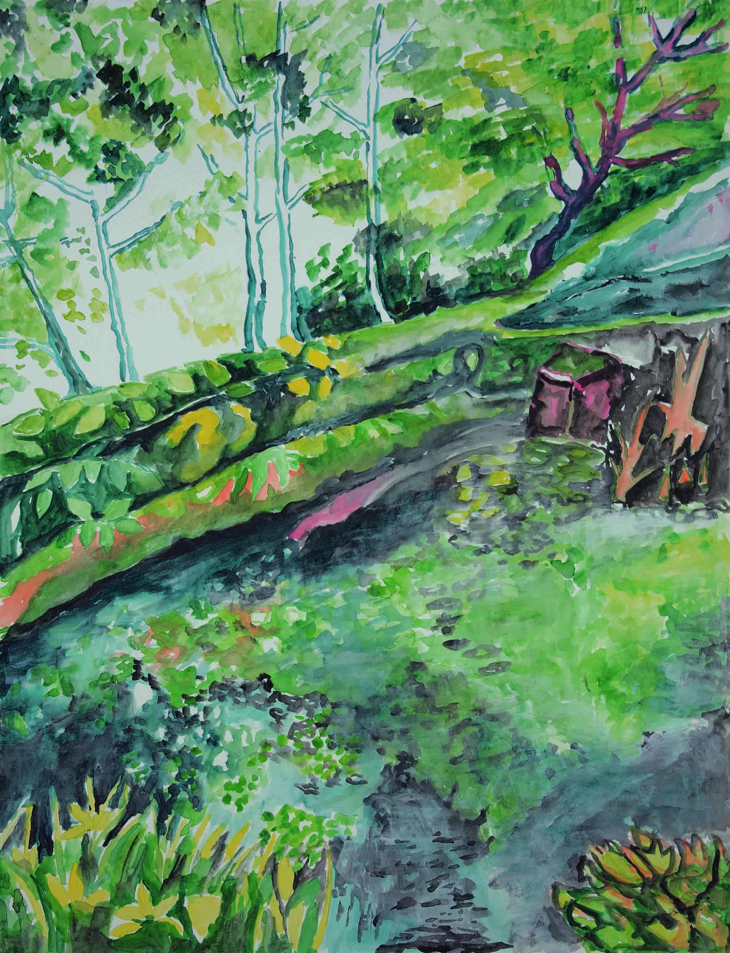 8 Giugnio 2017, Aquarell auf Papier, 55 x 46 cm, Courtesy: hilleckes probst galerie