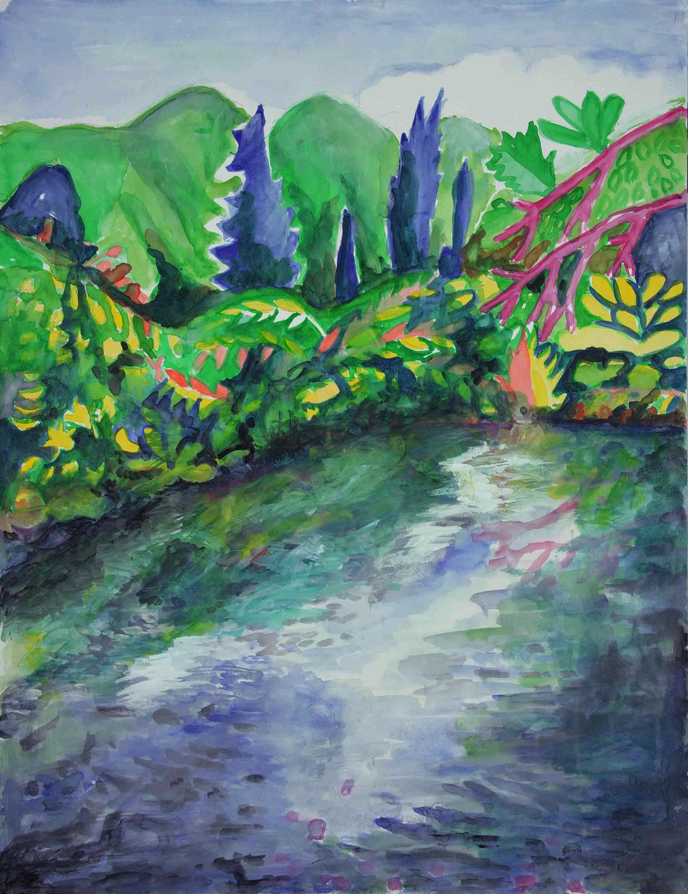10 Giugno 2017, Aquarell auf Papier, 55 x 46 cm, Courtesy: hilleckes probst galerie