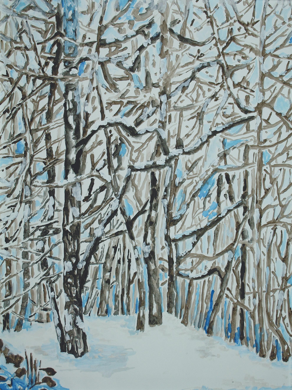 22 Dicembre 2017, Aquarell auf Papier, 55 x 46 cm, Courtesy: hilleckes probst galerie