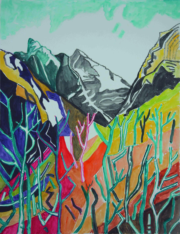 23 Novembre 2017, Aquarell auf Papier, 55 x 46 cm, Courtesy: hilleckes probst galerie