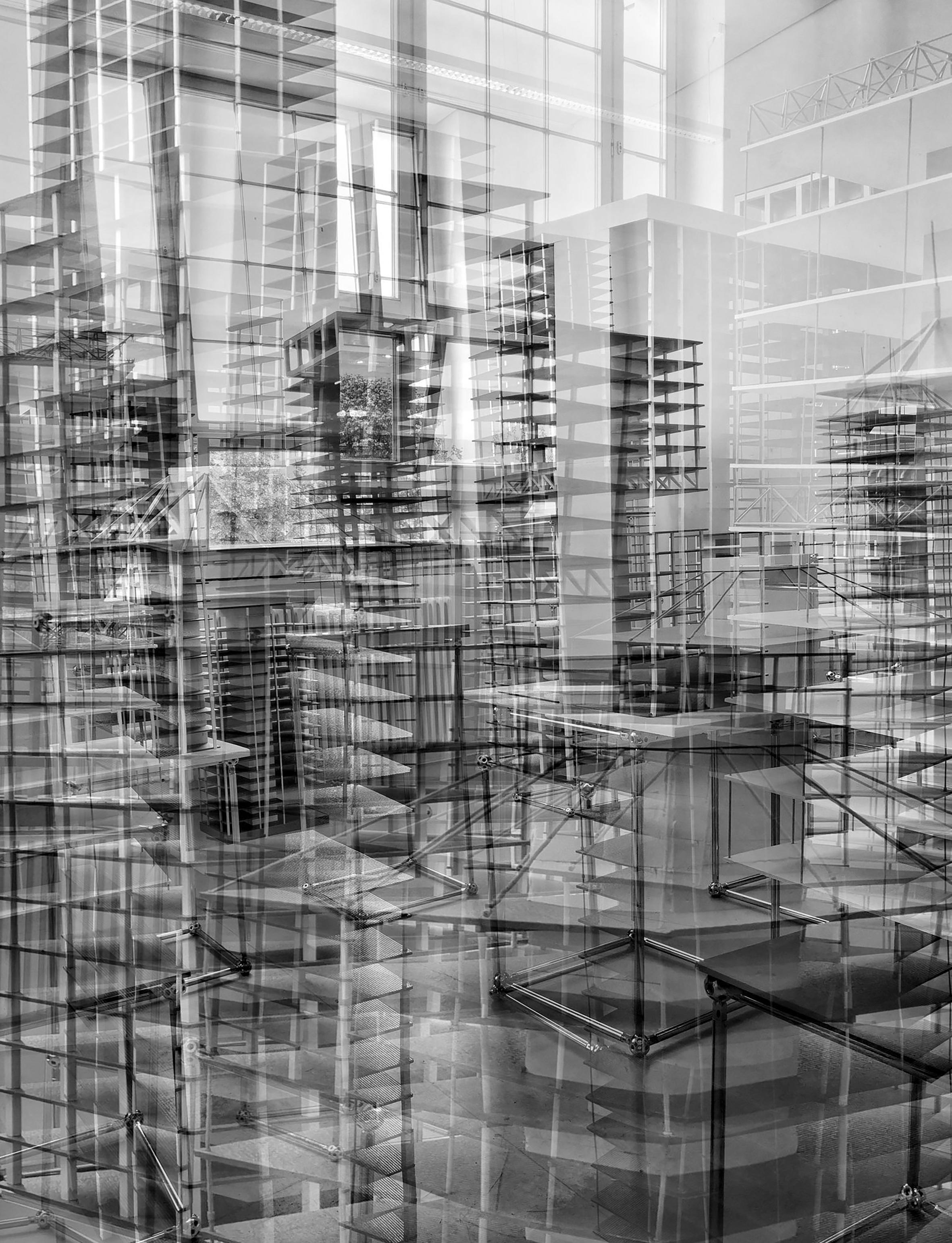 Vexierbild #9, UDK Berlin, 2019/07/15, Silbergelatine Abzug / silver gelatin print, Printed 2021, Copyright Barbara Wolff