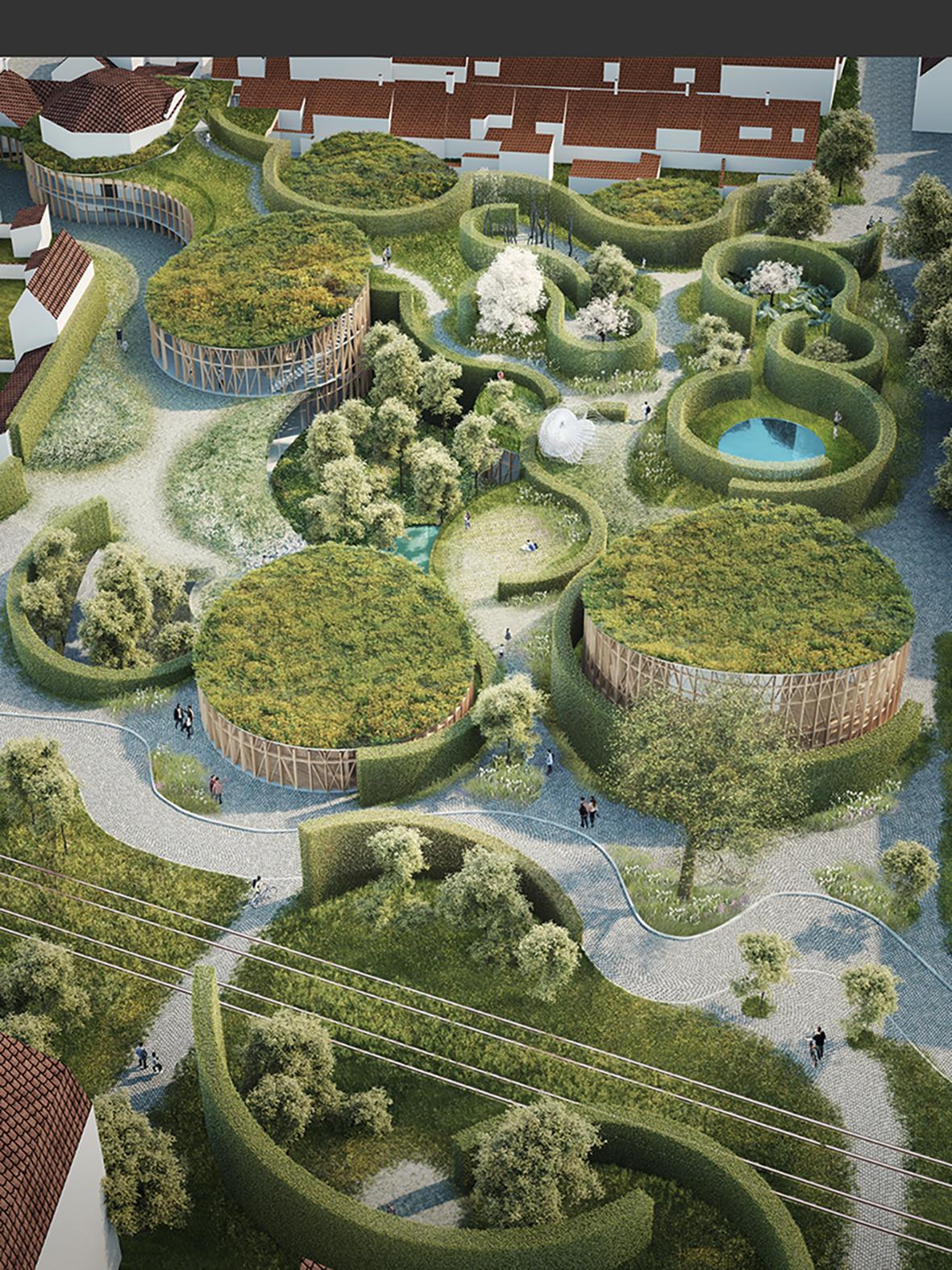 Rendering, H.C.Andersen Haven Arabesque overview © Kengo Kuma & Associates, Cornelius Vöge, MASU Planning