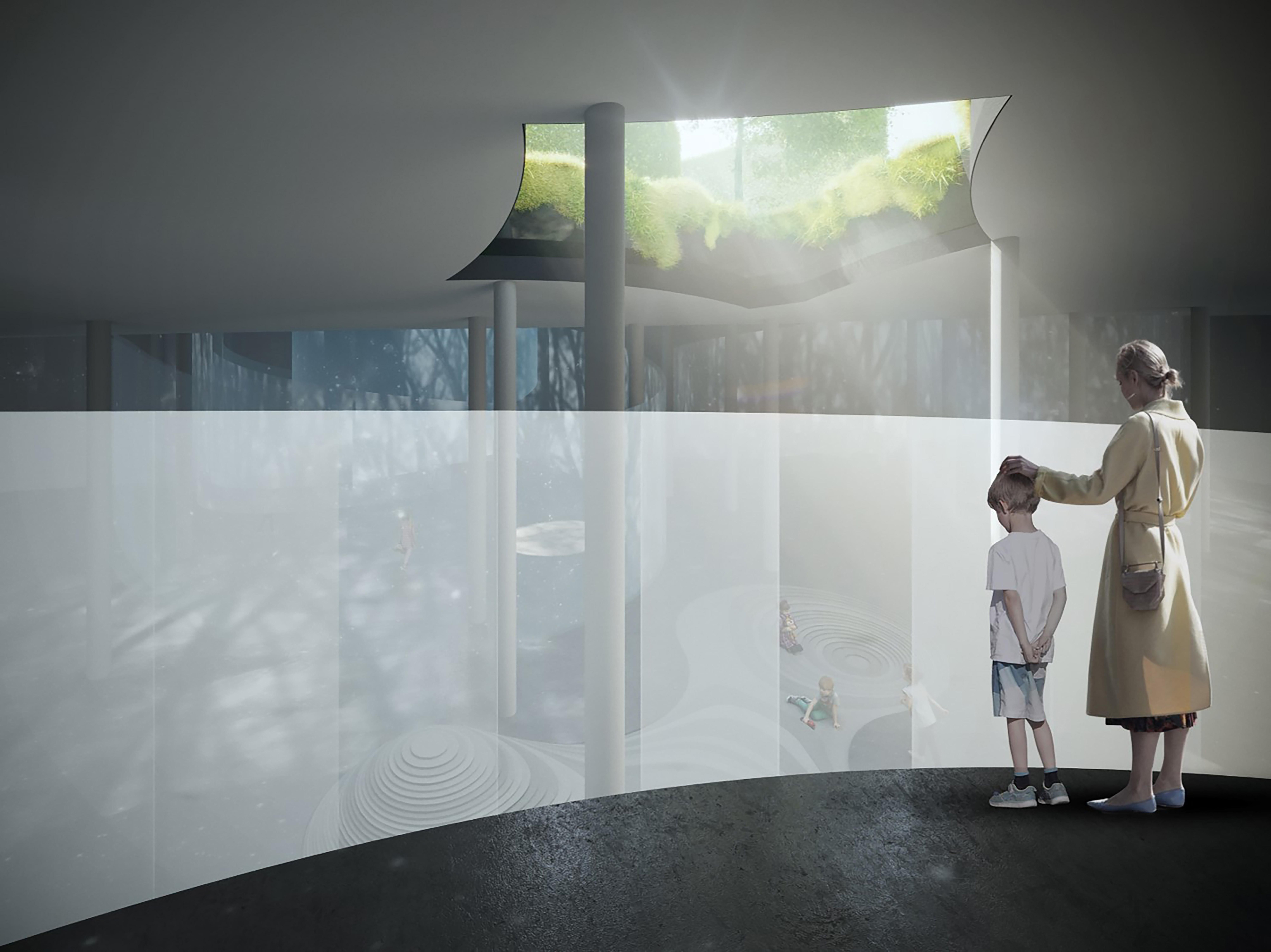 Rendering, H.C.Andersen Haven Glimpses of light © Kengo Kuma & Associates