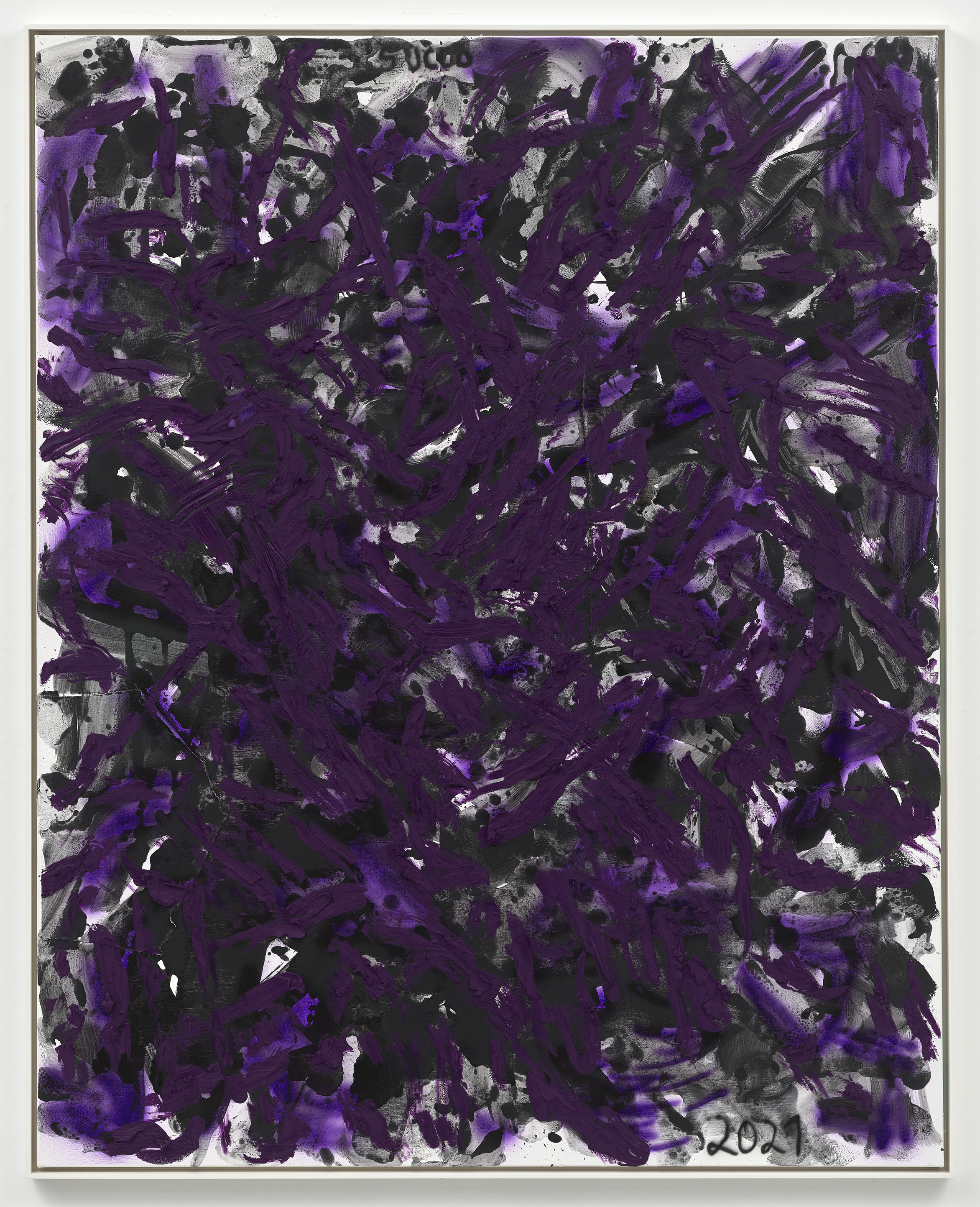 Succo Nastassja [Deep Purple], 2021 Öl, Flashe und Lack auf Leinwand, gerahmt 153 x 122 cm © Chris Succo Foto: Achim Kukulies