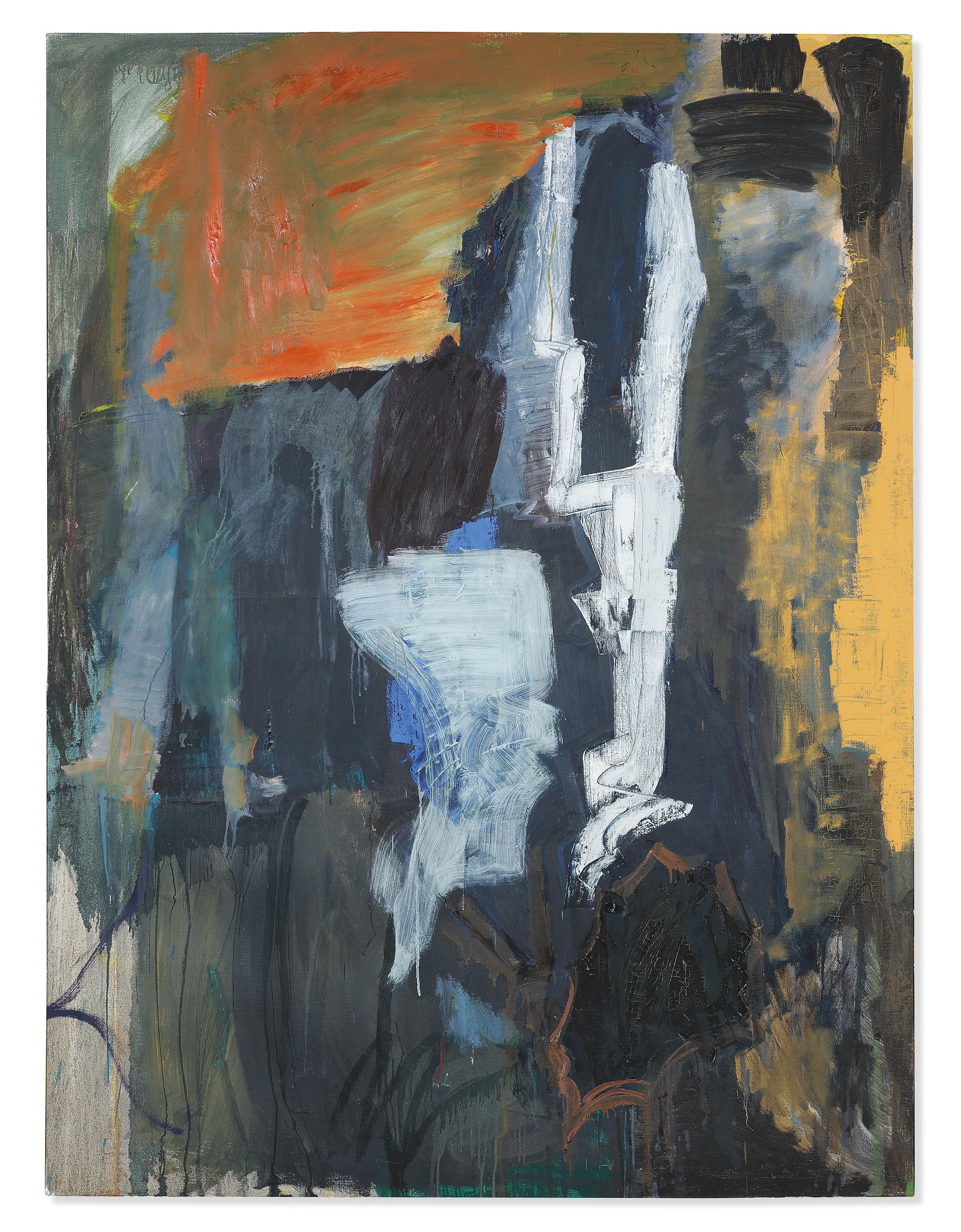 Kirkeby Gegen Abend I (Towards Evening I) 1984 Öl auf Leinwand 200 x 150 cm © Per Kirkeby Estate Foto: Stefan Korte