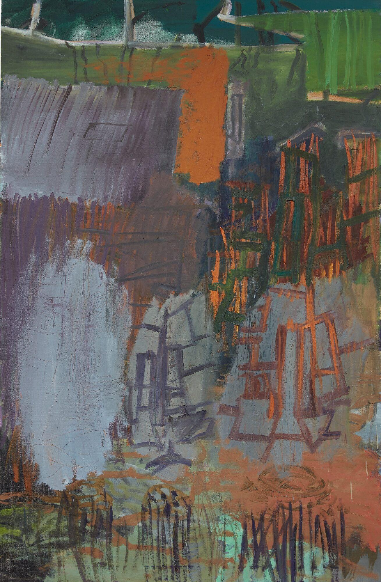 Kirkeby INFERNO VII, 1993 Öl auf Leinwand 198 x 130 cm © Per Kirkeby Estate Foto: Stefan Korte