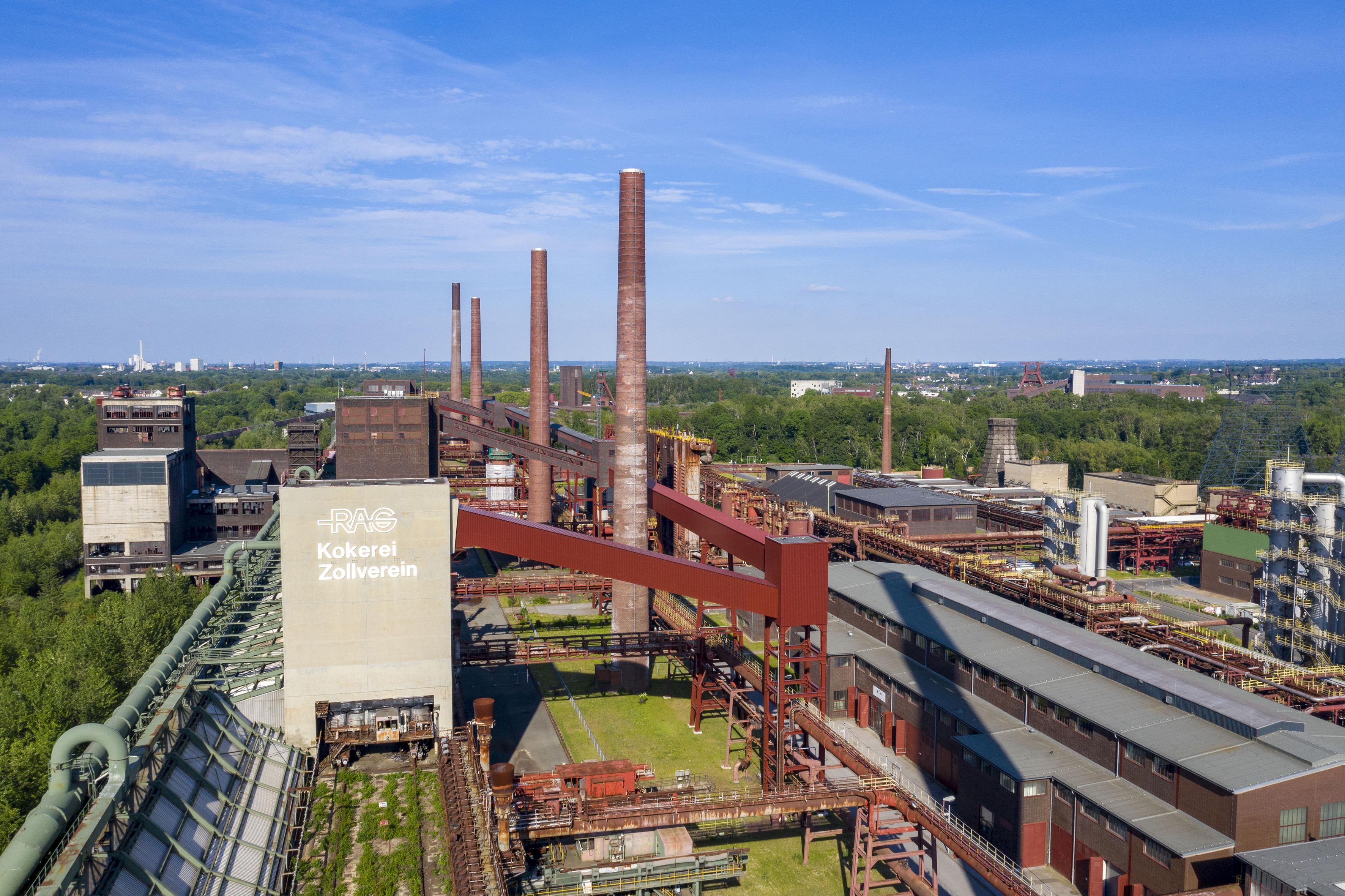 Luftaufnahme der Kokerei Zollverein, Foto: Jochen Tack © Stiftung Zollverein