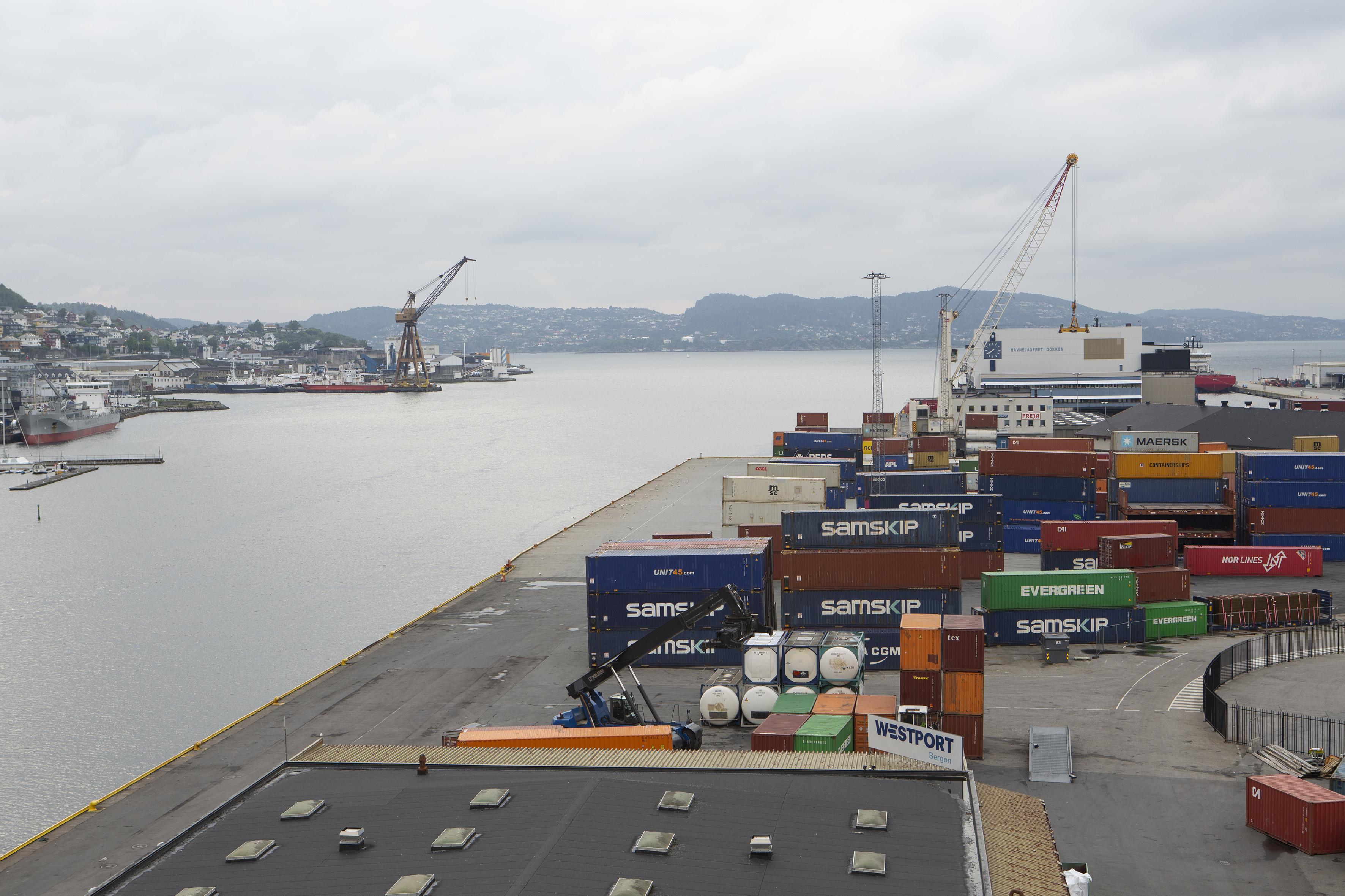 Containerhafen von Bergen. Foto: Giulia Mangione