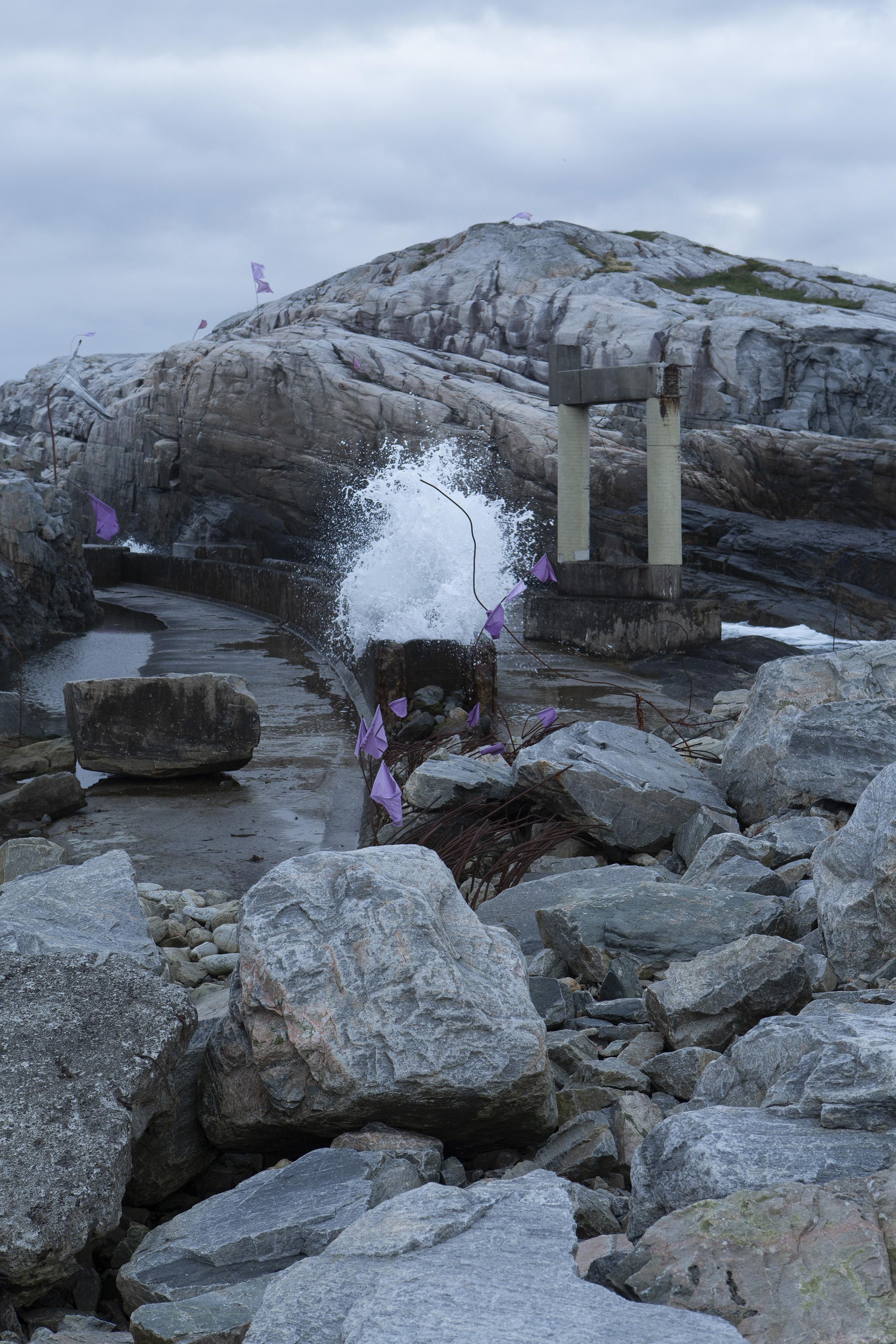Standort des Pilot-Ozeanwellenkraftwerks in Øygarden, außerhalb von Bergen. Foto: Giulia Mangione
