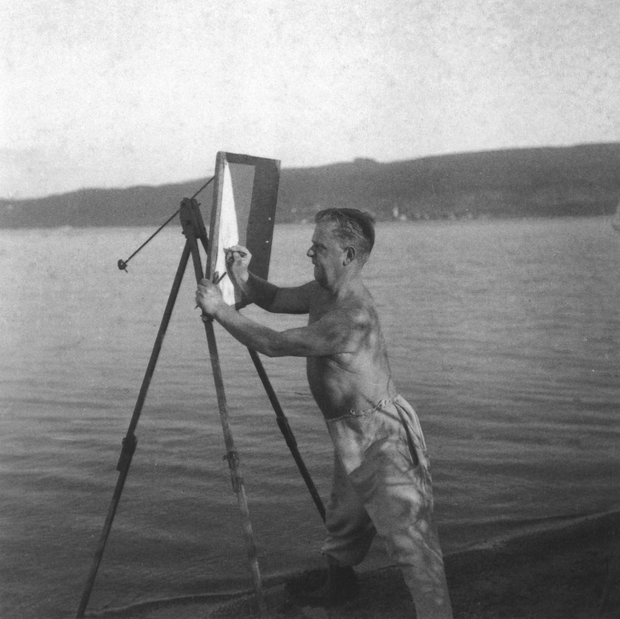 Max Ackermann, Arbeiten am Bodensee, um 1935 © Max-Ackermann-Archiv Bietigheim- Bissingen