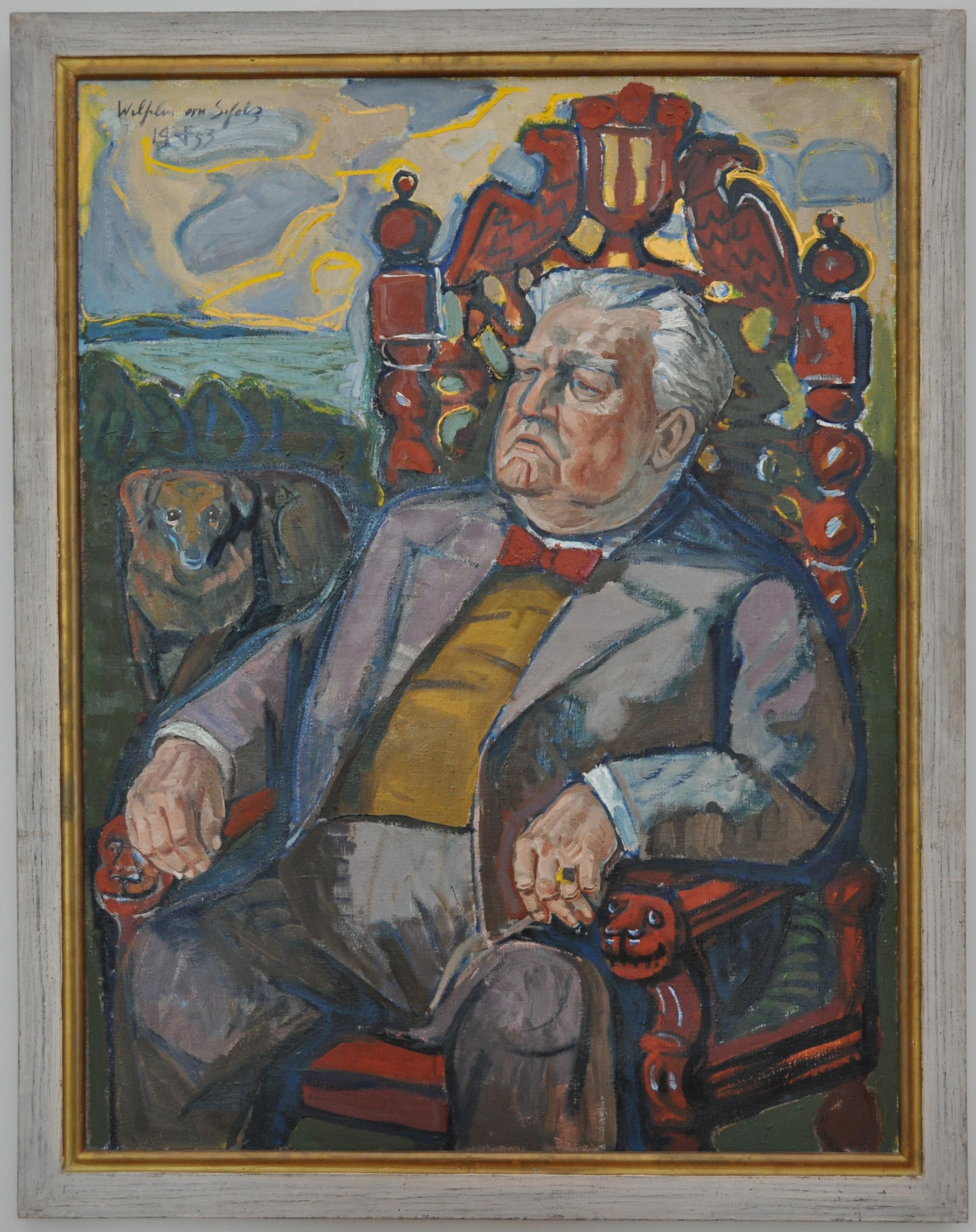 Otto Dix, Bildnis des Dichters Wilhelm von Scholz, 953, Öl auf Leinwand 122 x 92 cm) © VG Bild-Kunst, Bonn 2021