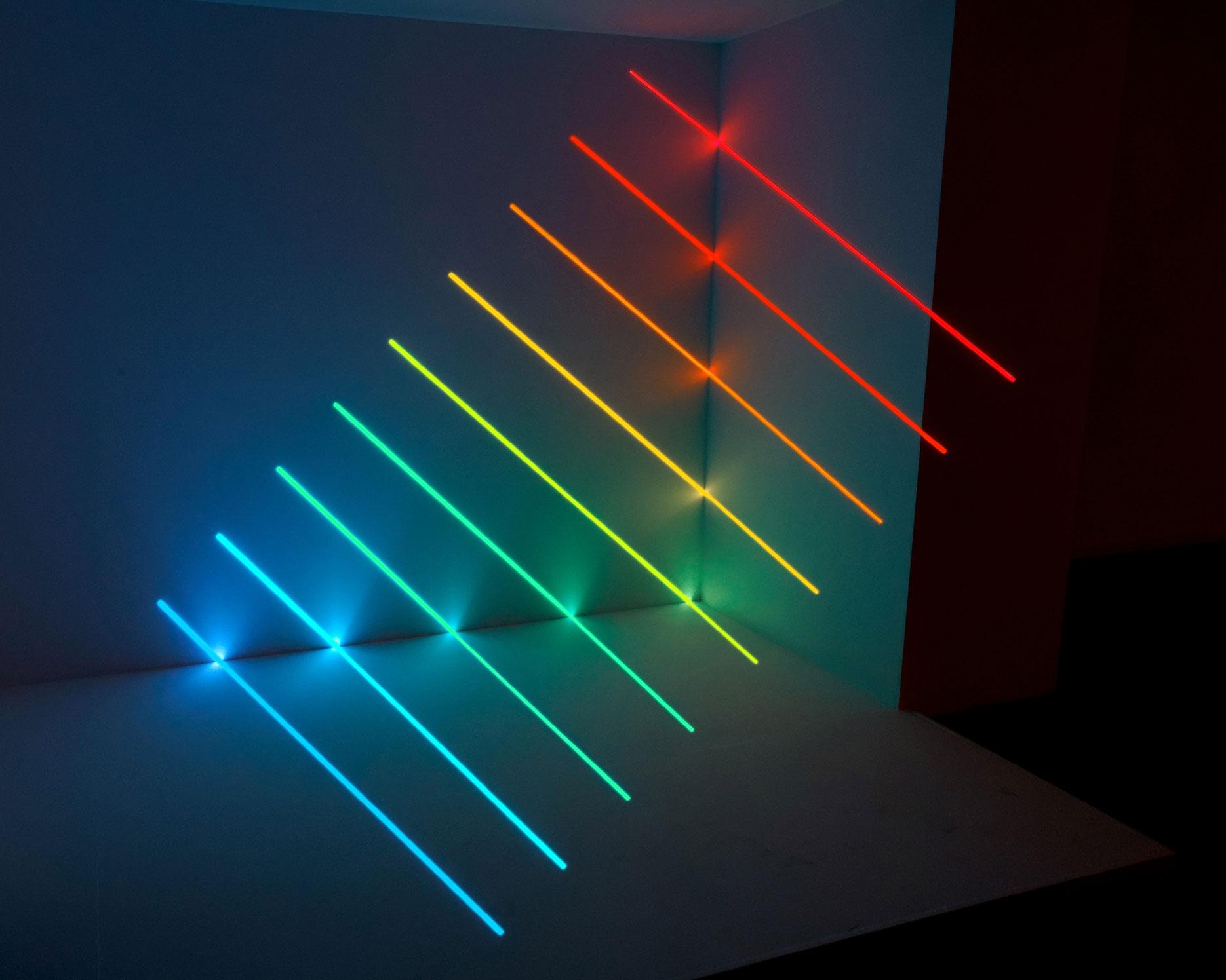 Olivier Ratsi, Spectrum Computer, LED, Holz 212 x 256 x 180 cm, Ortsspezifische Installation, Hersteller: Crossed Lab © Olivier Ratsi