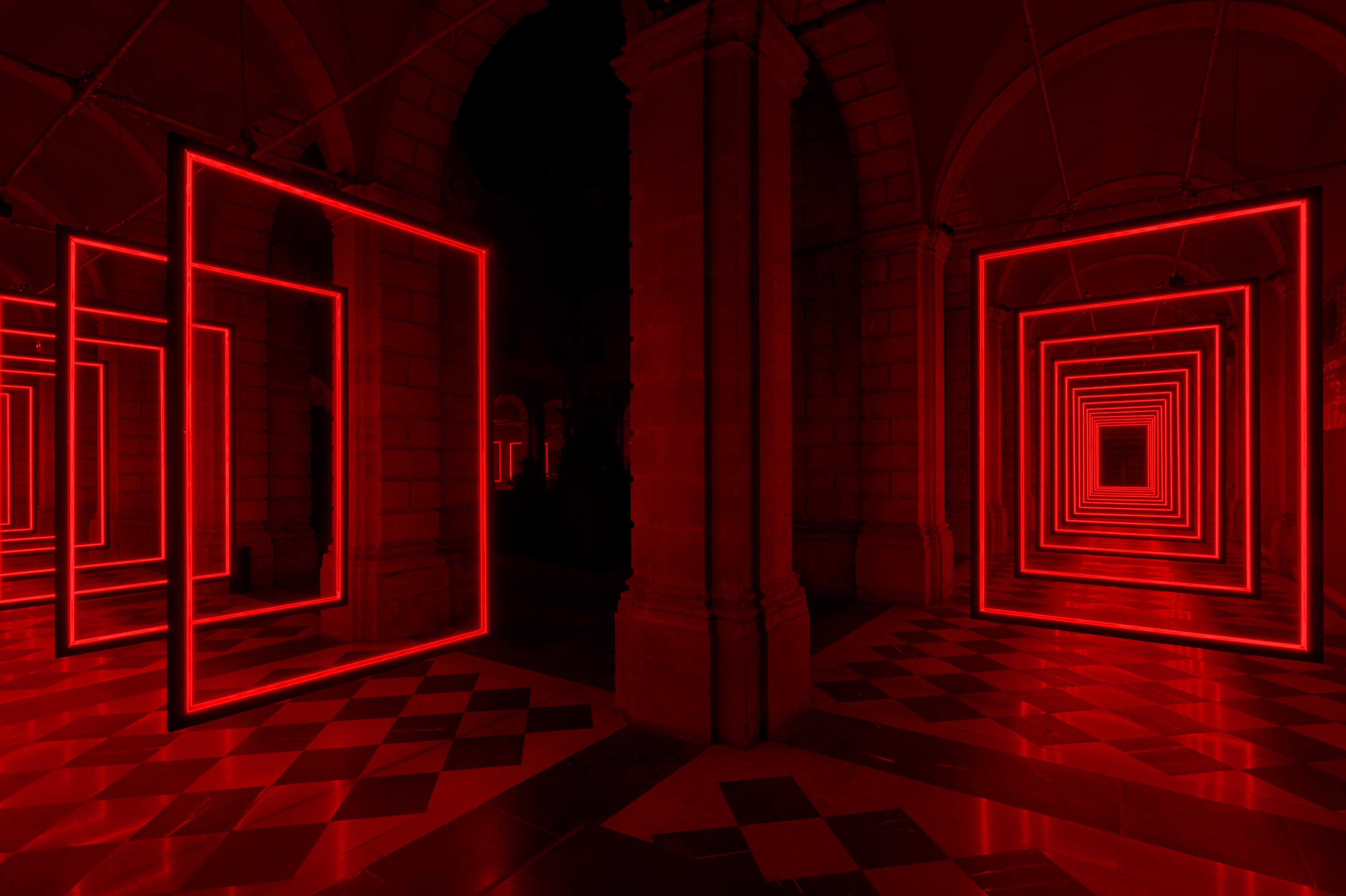 Olivier Ratsi, Frame Perspective LED, Holz, Software, 8 Audio-Kanäle 30 x 2,4 x 30m, Hersteller: Crossed Lab © Olivier Ratsi