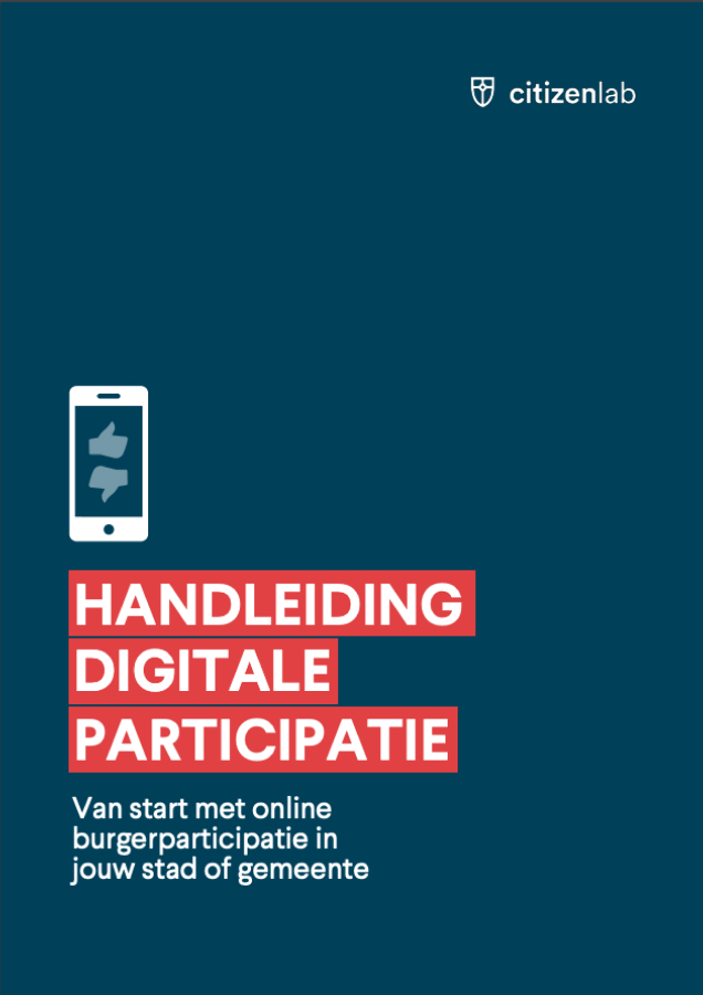 Screenshot of the digital participation handbook