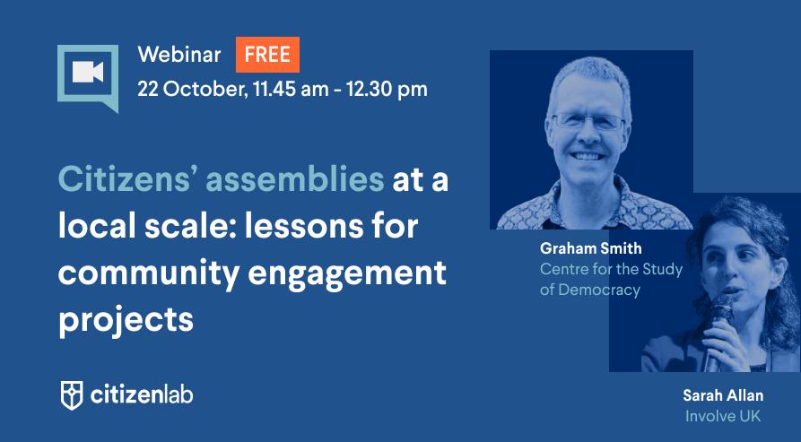 webinar citizens' assemblies community engagement
