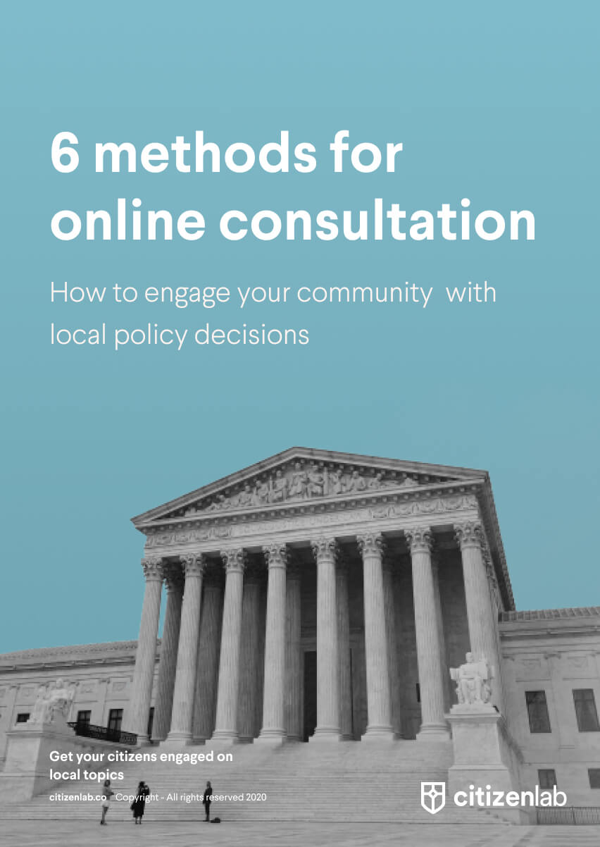 Cover 6 ways online consultation communities
