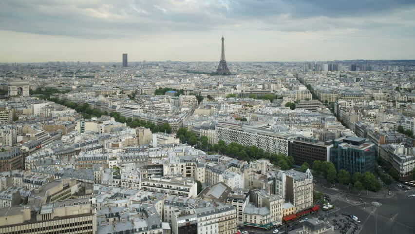 Skyline view of Paris