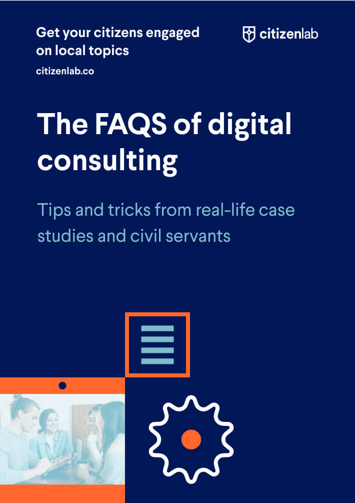 cover page of faq on digital participation guide