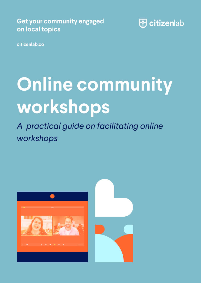 cover page of online workshops guide