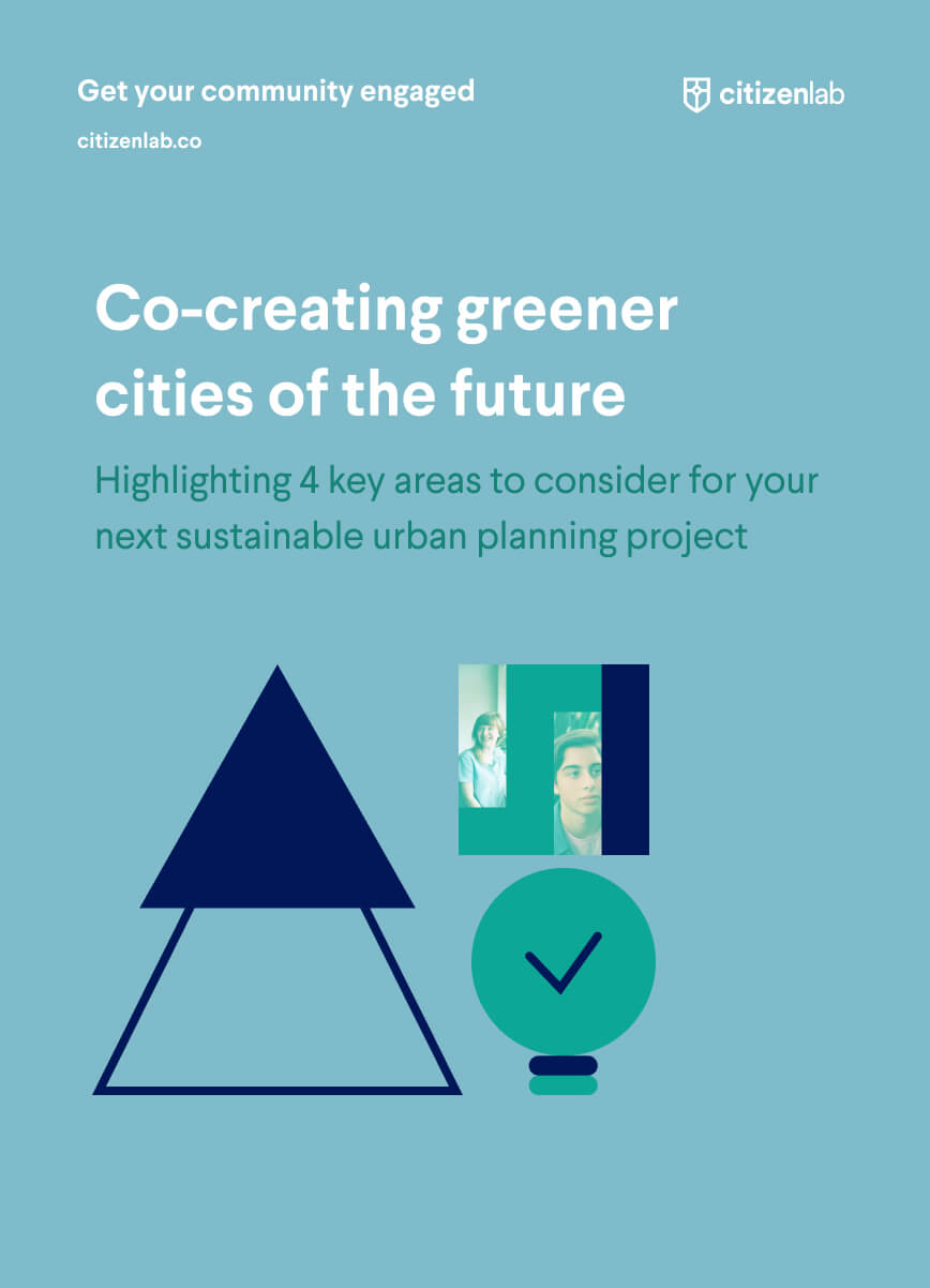 cover page of greener cities guide