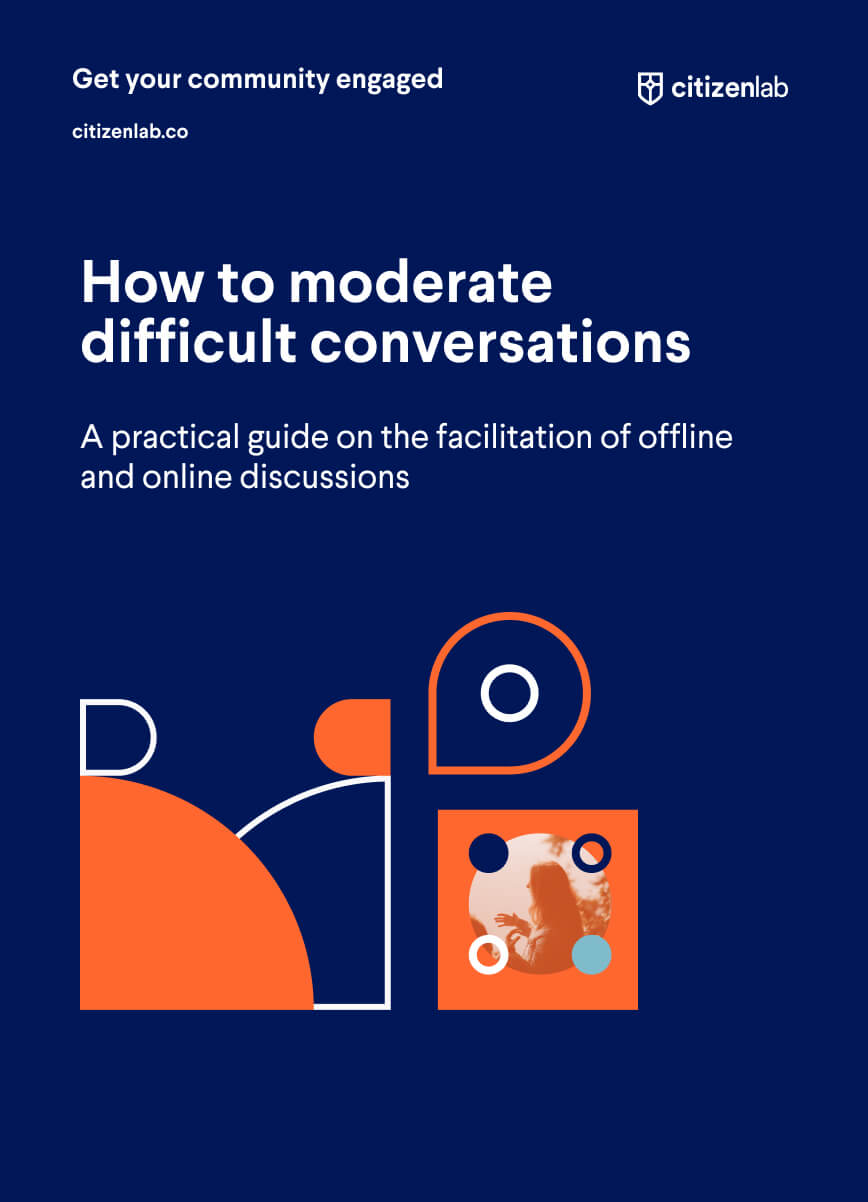 cover page of moderating difficult conversations guide