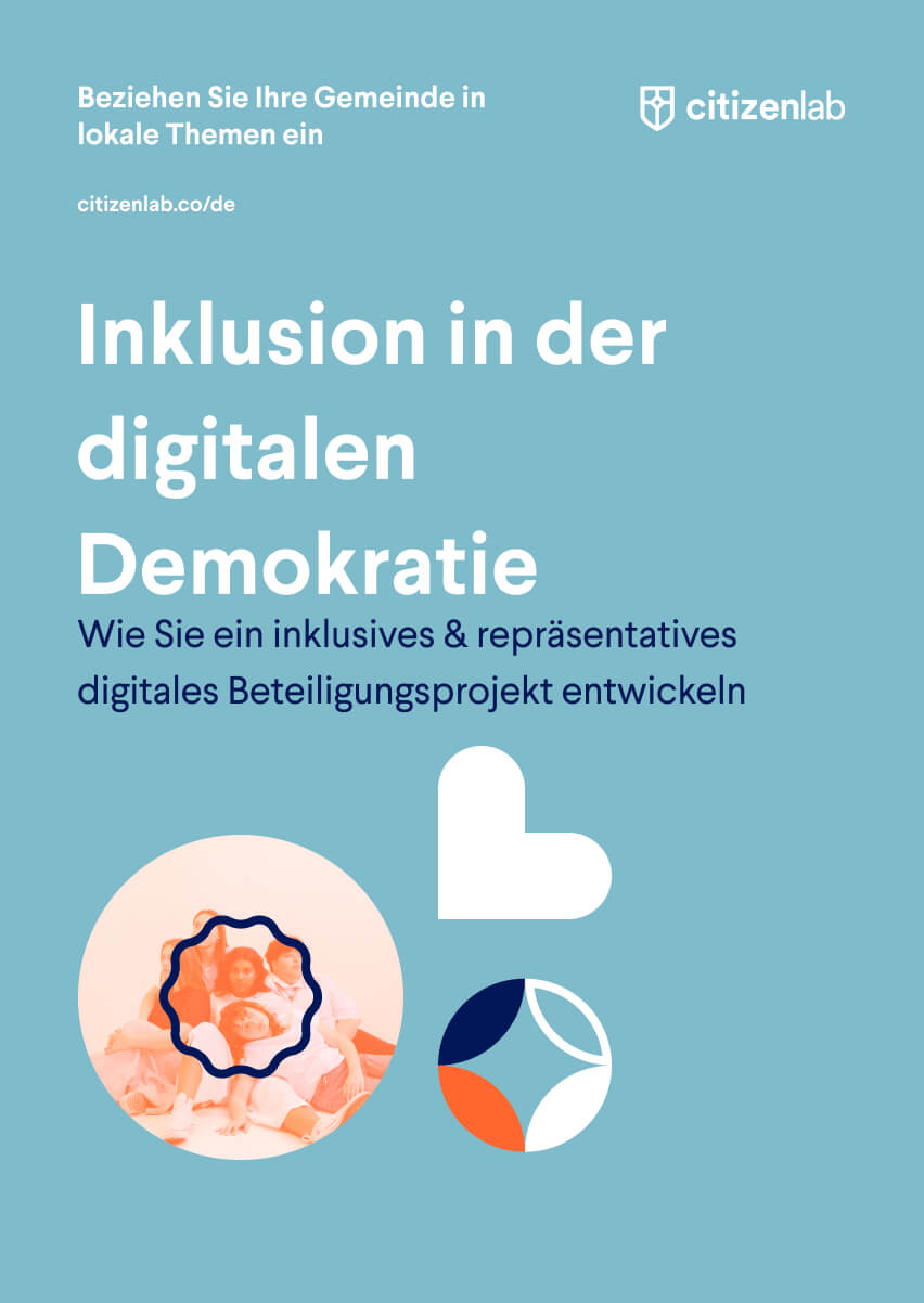 cover page of inclusion in digital participation guide