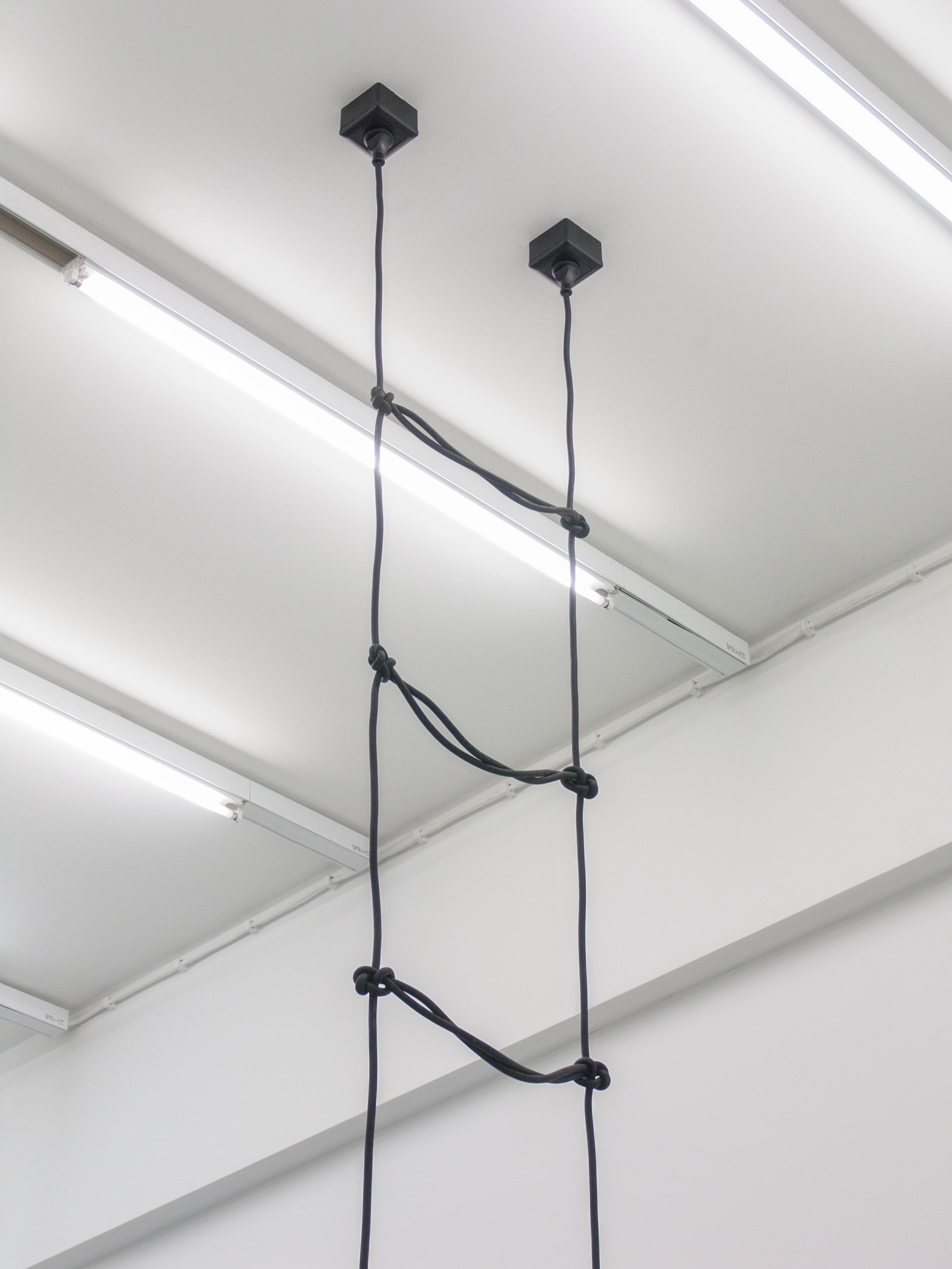 Artwork by Erik Andersen - Leiter 2010 - Black sculpture - Dimension variable - Installation View - Detail