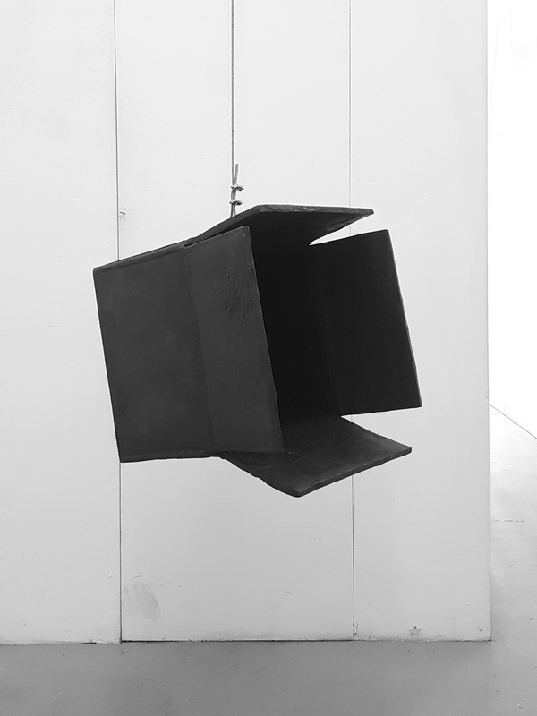 Artwork by Erik Andersen - Black Hole 2019 - Black Sculpture - Dimension 42 x 46 x 44 cm - Installation View