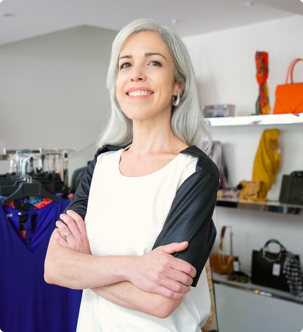 Женщина владелиц магазина
