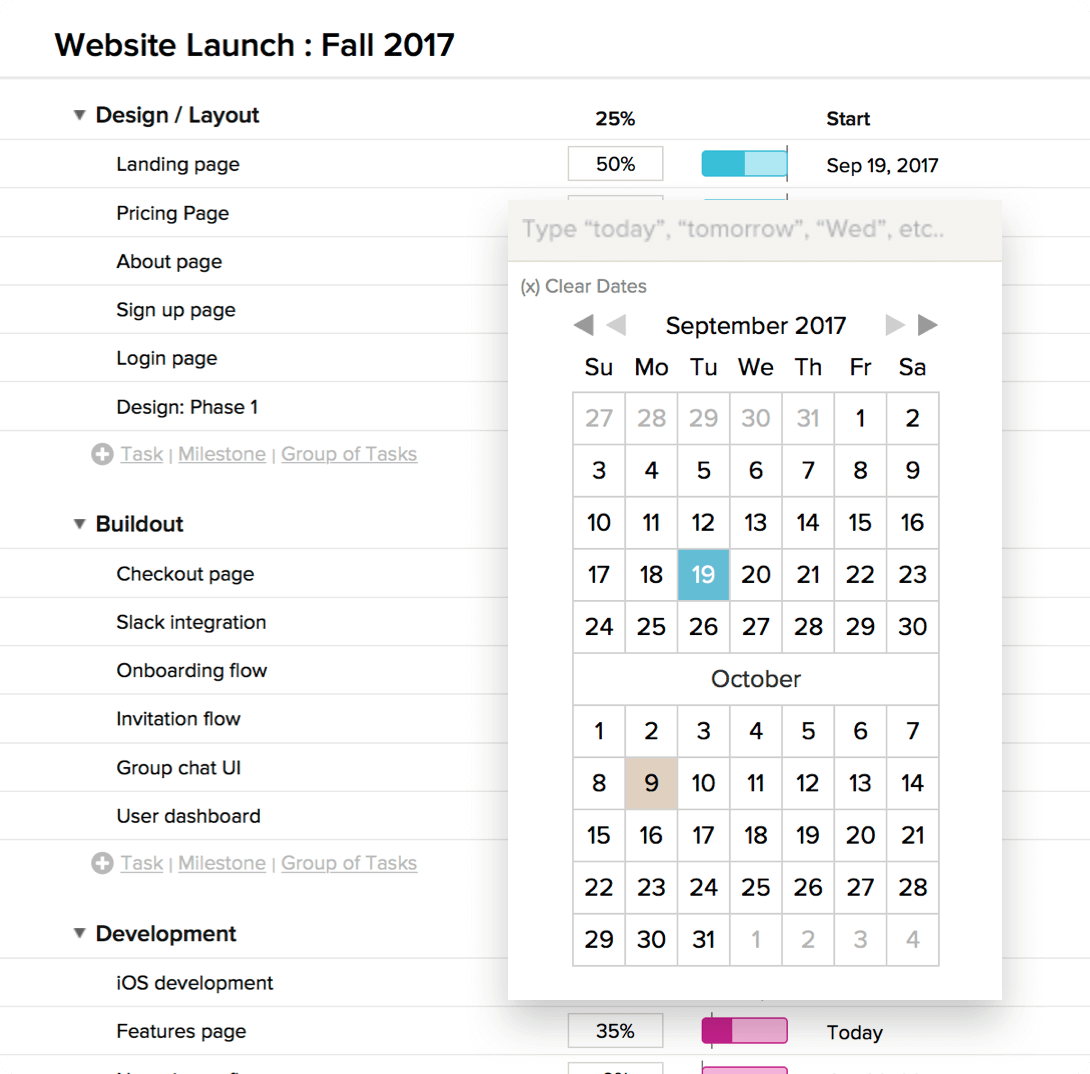 easily schedule build project timelines