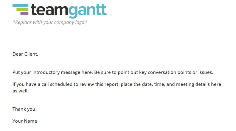 Project status report template download now teamgantt parts of the report and prepare them for the follow up discussion about them the message below is also a great sample email for status updates altavistaventures Gallery