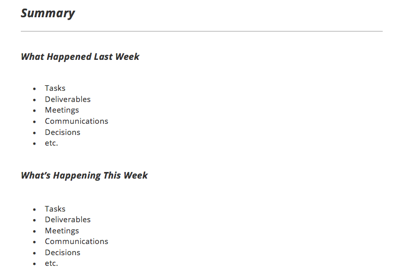 weekly flash report template - project status report template and status report examples