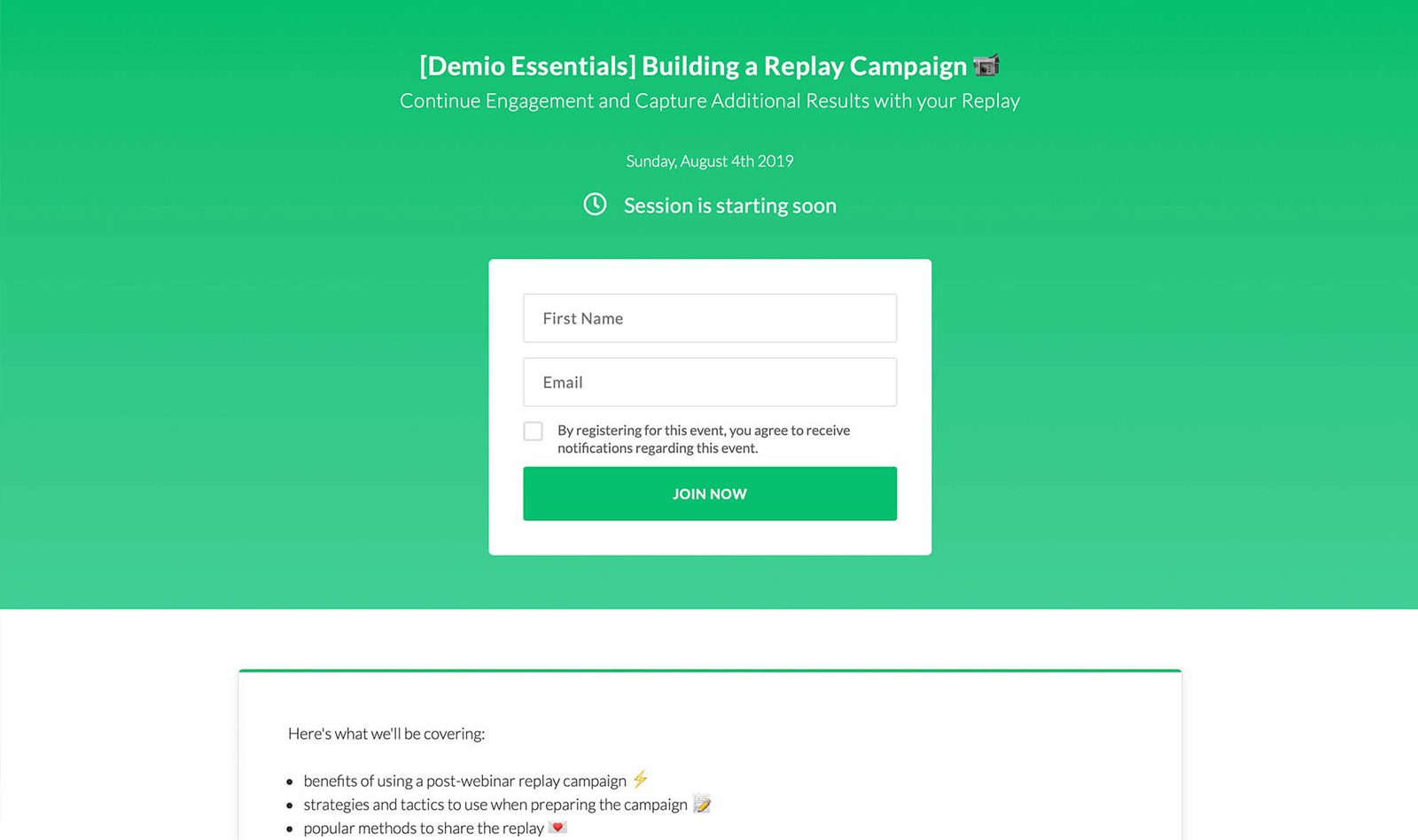 Demio - Hassle-free Webinar Software for Marketers