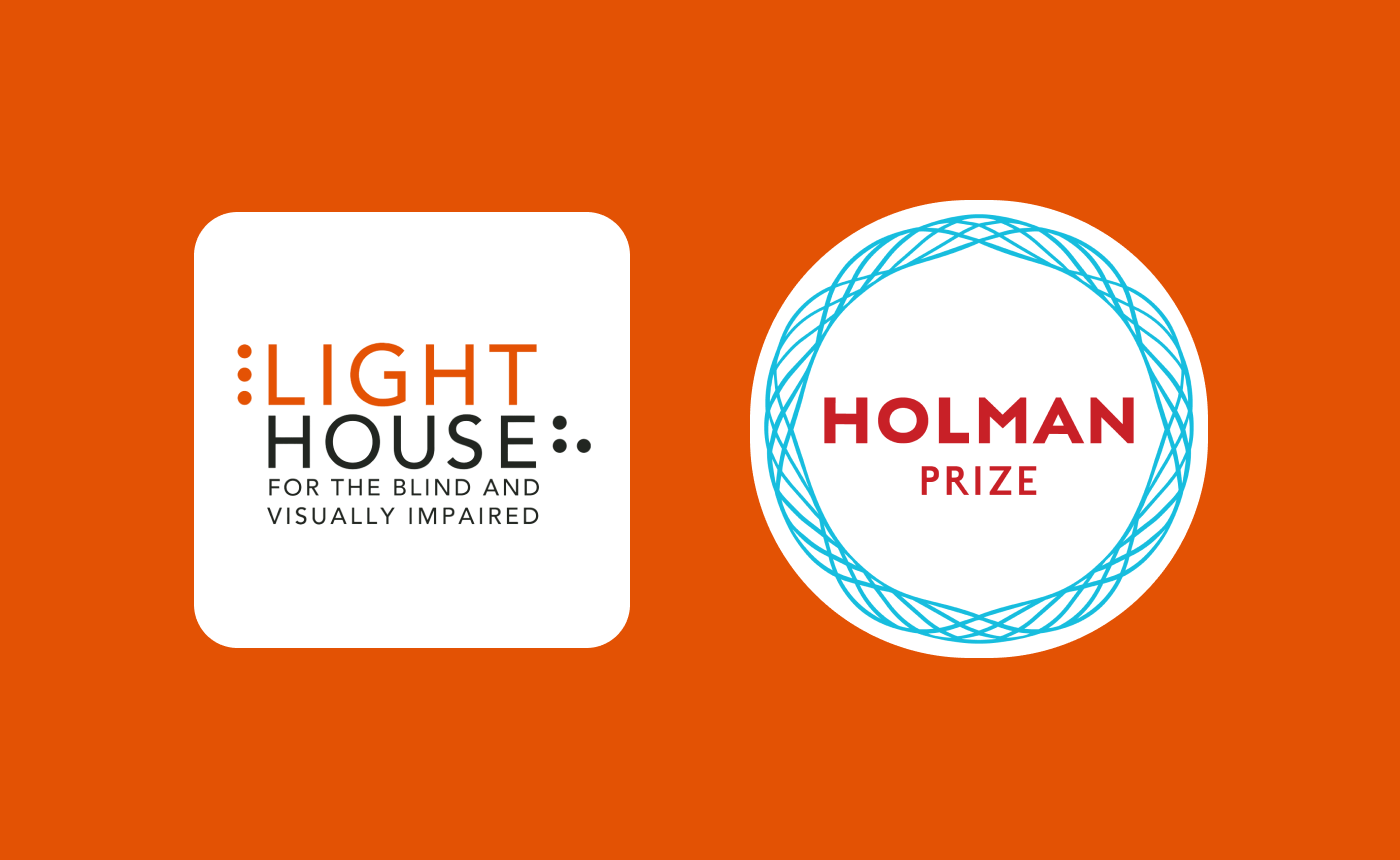 The logos of Lighthouse San Francisco and the Holman Prize.