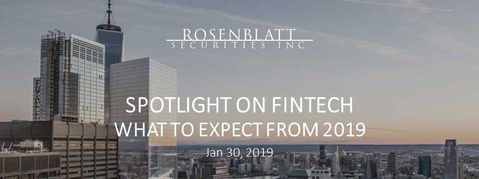 Webinar Replay - Spotlight on Fintech: Key Trends to Watch for 2019
