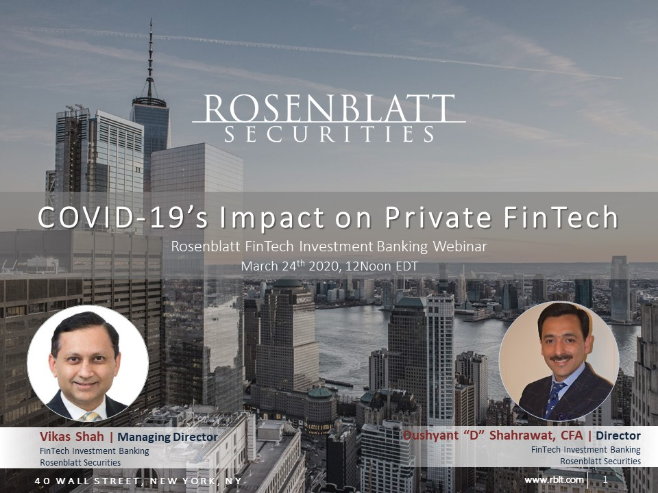 Webinar Replay: COVID-19's Implications for the Private FinTech Market