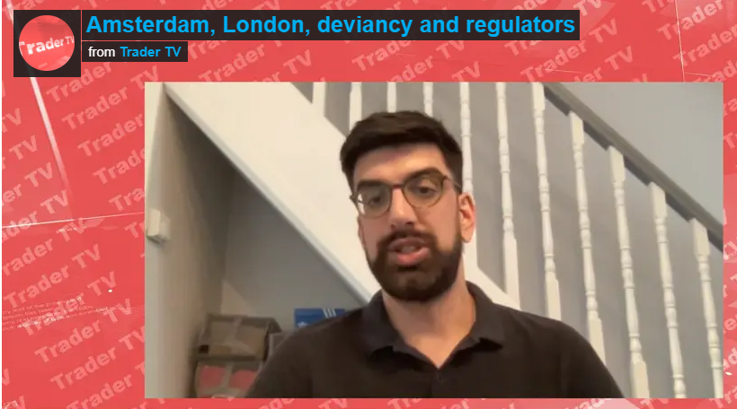 """European market structure analyst Anish Puaar interviewed on Trader TV to cover """"Amsterdam, London, deviancy and regulators"""""""