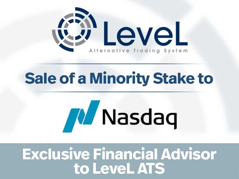 Rosenblatt Serves as Exclusive Financial Advisor to LeveL ATS on Minority Investment from Nasdaq